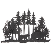 Black Bears In Forest Metal Wall Decor