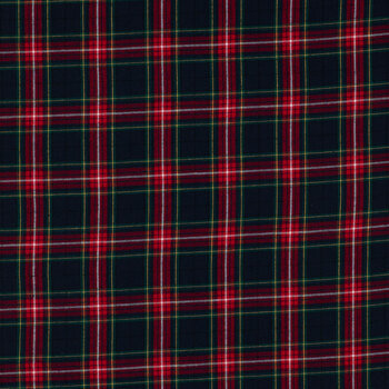 Blue & Red Plaid Flannel Fabric