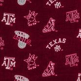 Texas A&M Allover Collegiate Fleece Fabric