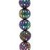 Multi-Color Round Filigree Bead Strand