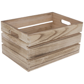 Light Wood Crate Container