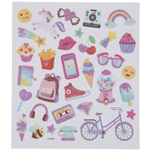 Pink Glitter Icon Stickers