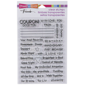 Gift Coupons Clear Stamps