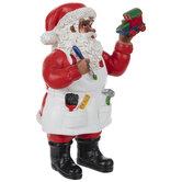 Santa Painting Toy Train
