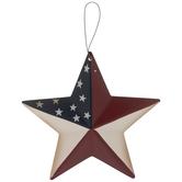 American Flag Star Ornament