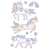 Unicorn & Rainbow Rhinestone Stickers