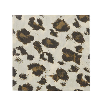 Brown & Black Leopard Print Napkins - Small