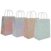 Animal Print Foil Craft Gift Bags