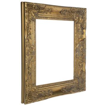 Antique Gold Wood Open Frame