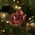 Pink Glitter Rose Clip Ornaments