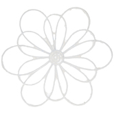 White Flower Metal Wire Wall Decor