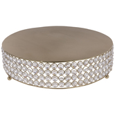 Gold Beaded Cake Stand