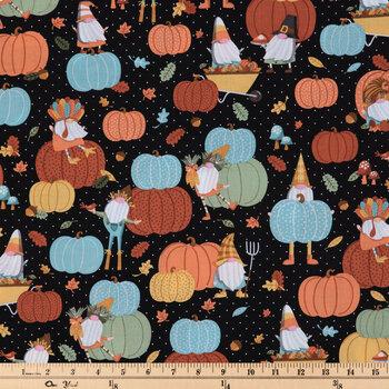 Pumpkin & Gnomes Cotton Fabric