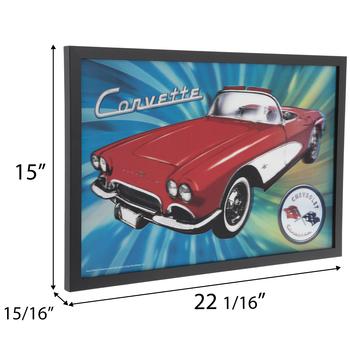 Corvette Lenticular Wood Wall Decor