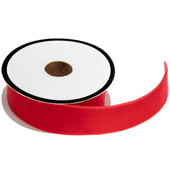 Red Velvet Ribbon Trim - 7/8""
