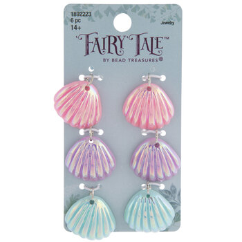 Iridescent Pastel Shell Charms