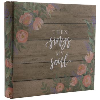 "Then Sings My Soul Post Bound Scrapbook Album - 6"" x 6"""