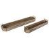 Brown & Gold Mango Wood Tray Set