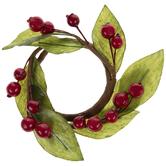Berry & Leaf Wreath Napkin Ring