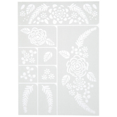 Country Love Floral Adhesive Stencils