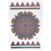 Pink, Teal & Silver Kaleidoscope Removable Stickers