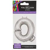 Silver Foil Letter Balloon - Q