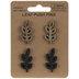 Brown & Black Branch Wood Push Pins