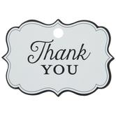 Quatrefoil Thank You Favor Tags
