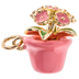 Pink Flower Pot Charm
