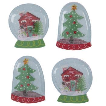 Snow Globe Puffy Stickers