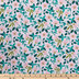Pink & Green Floral Apparel Fabric