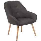 Gray Fabric Chair