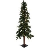 Green Alpine Pre-Lit Christmas Tree - 5'