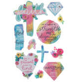Faith Floral 3D Stickers