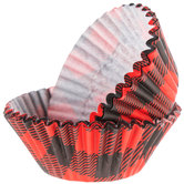 Red & Black Buffalo Check Baking Cups