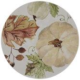 Cream & Green Pumpkin Plate
