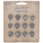 Metal Heart Adornments