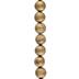 Metallic Crystalloid Agate Bead Strand - 10mm