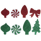 Assorted Christmas Glitter Foam Stickers