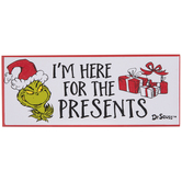 Dr. Seuss Here For The Presents Wood Wall Decor