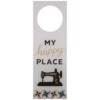 My Happy Place Door Hanger