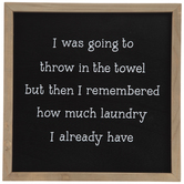 Throw In The Towel Wood Wall Decor