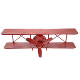 Red Airplane Metal Wall Decor