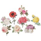 Victorian Flower Stickers