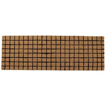 Brown & Black Squares Coir Rug
