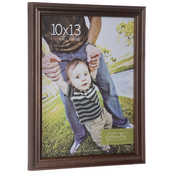 "Brown Beveled Wood Wall Frame - 10"" x 13"""