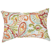 Papaya Paisley Pillow