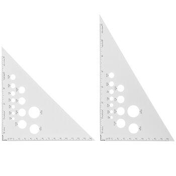 Aluminum Triangle Rulers