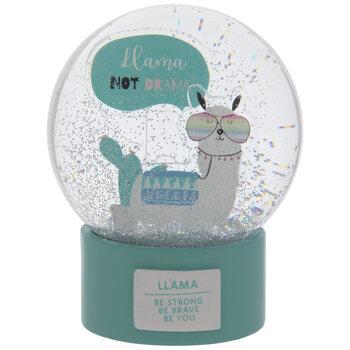 Llama Not Drama Snow Globe