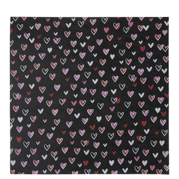 """Outlined Hearts Scrapbook Paper - 12"""" x 12"""""""